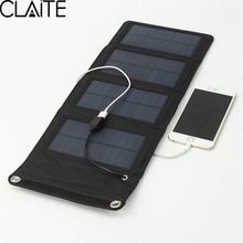 7 w cargador solar panel solar que acampa portable al aire libre plegable de viaje para móvil de la tableta kits kits de batería de carga usb