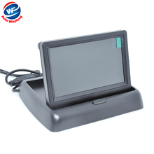 Высокое разрешение 4.3 «цветной TFT LCD Автомобильное Зеркало Заднего Вида Монитор 4.3 дюймов 16:9 экран DC 12 В автомобиль Монитор для ВИДЕОМАГНИТОФОНА DVD Камеры