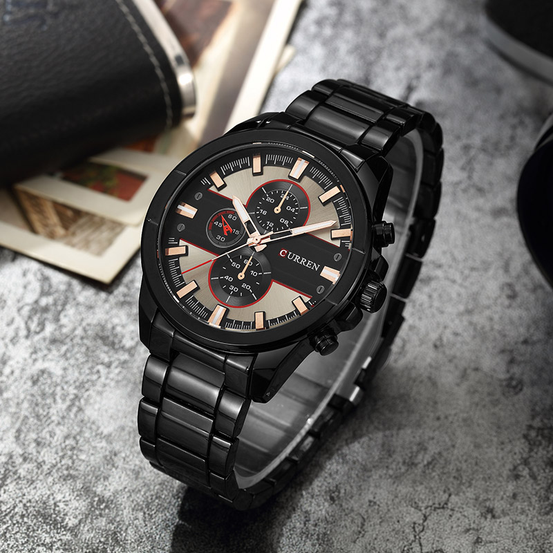<font><b>Curren</b></font> <font><b>8274</b></font> Paper Watch Men Top Brand Luxury Relogio Masculino Quartz Watch Fashion Casual Watches Men Stainless Steel Watch image