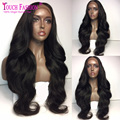 2017 New Fashion 13*6 Lace Front Human Hair Wig With Natural Hairline Body wave Virgin Indian Full Lace Wigs with 150Density