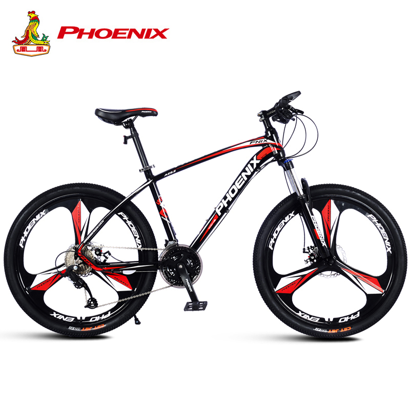 Phoenix Bicycle Motocross Micro transfer 27 Speed Mountain Road Bike Men Women Students Mountain Bicycle Disc