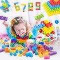 90 pcs Grandes Blocos de Plástico Peças de Plástico Inserido Brinquedos Educativos Para Crianças Montado Blocos de Montar
