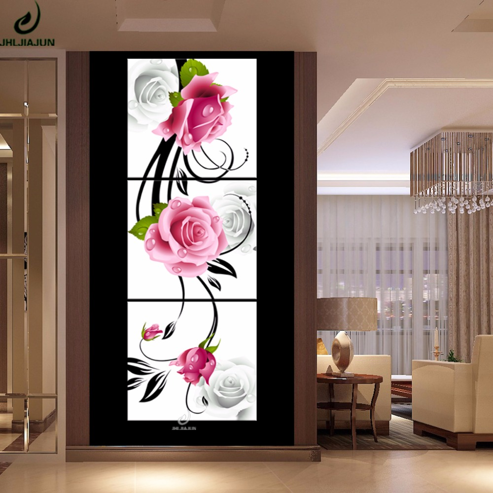 Triptych Vertical Modular Abstraction Pictures Plants Poster Flowers Paintings For The Kitchen Wall Art Canvas Painting In Calligraphy From