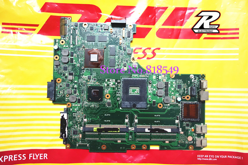 NEW For ASUS model N53SV Rev 2 2 GT540M 2GB netebook motherboard with 2 memory slot