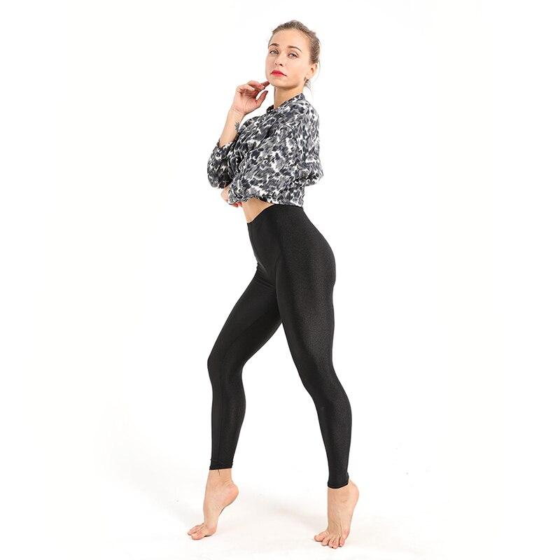 d4813a251 Women's Workout Leggings Casual Shiny Glossy Legging Female Fiteness Leggins  Plus Size M-XXXL Black Solid Fluorescent Leggings   Mikes Wholesale Mart