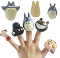 8 pcs/set Totoro finger cot Action Figure Collection Model Toy Free Shipping
