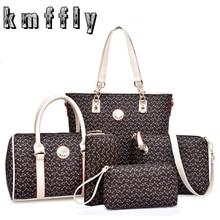Retro fish bone pattern 6 set purses and handbags brand luxury women designer high quality brand