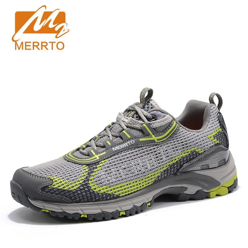 Здесь продается  MERRTO Men Air Mesh Trekking Shoes Breathable Lightweight Outdoor Sports Walking Male Walking Shoes Memory Cushioning Sneakers  Спорт и развлечения