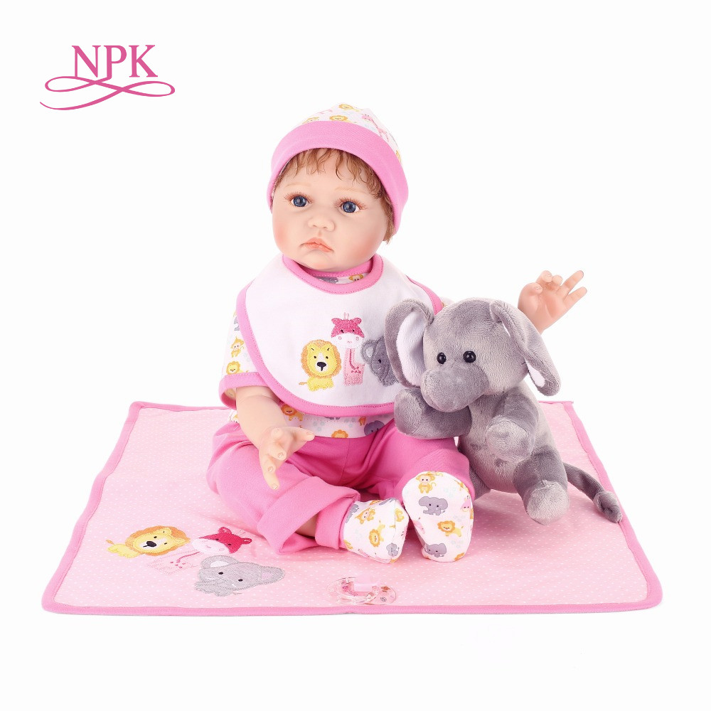 NPK Bebe Reborn Dolls de Silicone Girl Body 55cm Reborn Doll Toys For Girl Newborn Baby Bebe Doll Best Gifts bonecas adoral doll смартфон doogee doogee x50l gold 5
