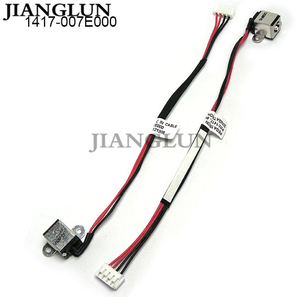 JIANGLUN 5X New DC Power Jack With Cable Harness For ASUS