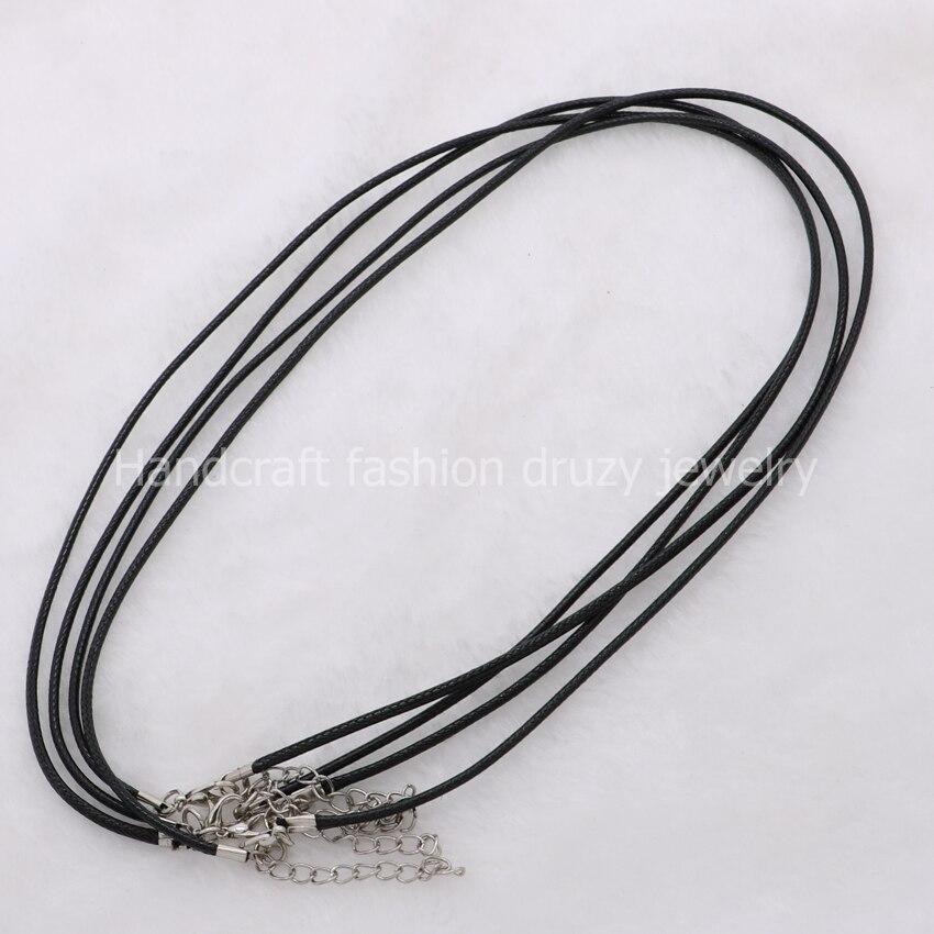 28a9d06659b8 18 cadena collar de joyería encontrar color negro plateado plata del  corchete 366