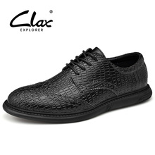 Buy CLAX Mans Shoes Designer 2019 Spring Autumn Leather Shoe Male Walking Footwear Men's crocodile shoes Leisure directly from merchant!