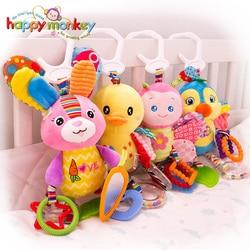 Детские плюшевые Набивная игрушка детская коляска висит Животные кровать мобильного зайчиками и обучающие игрушки для Детский подарок Happy ...