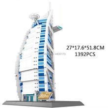 hot creators city Street view Burj al Arab Dubai United Arab Emirates Hotel building blocks model bricks toys for children gift 36cm a380 resin airplane model united arab emirates airlines airbus model emirates airways plane model uae a380 aviation model