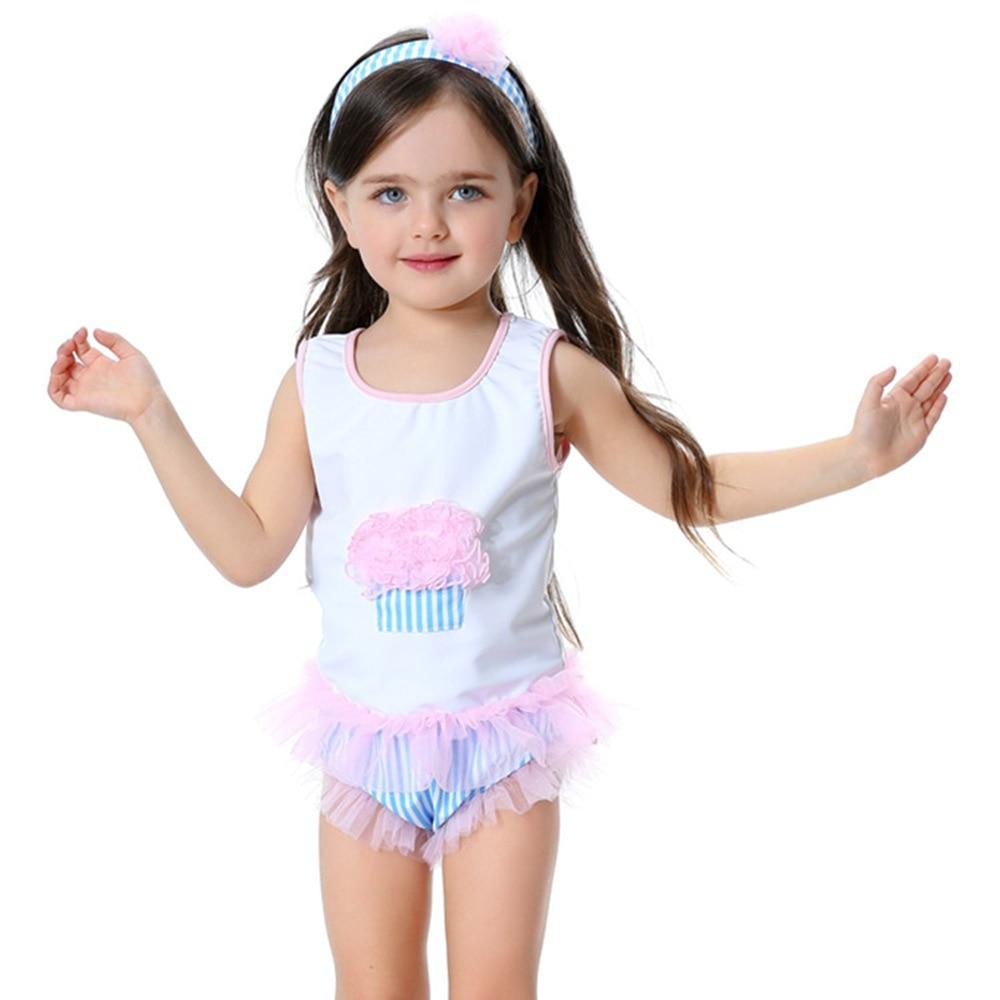 0-2T korte mouw badmode-set met hoofdband Meisjes leuke badpak set - Babykleding