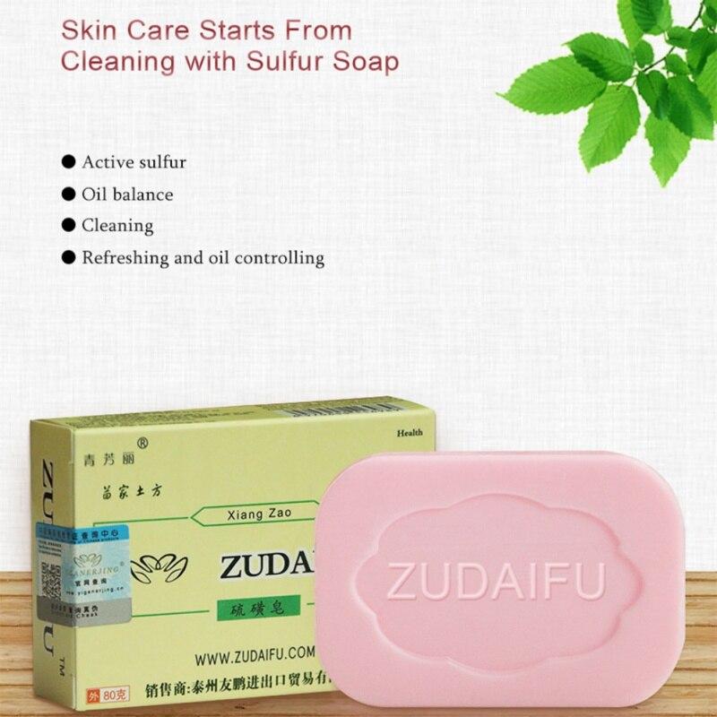 ZUDAIFU Sulfur Cleaning Refreshing Soap Skin Care Acne Psoriasis Seborrhea Eczema Anti Fungus Bath Healthy Oil-controlling Soaps