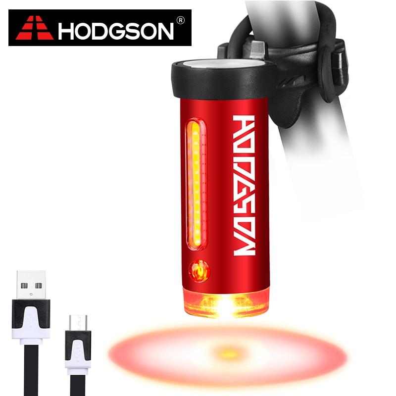 HODGSON USB Recargable Luz de la Bici LED Luz Trasera Impermeable de 360 Grados