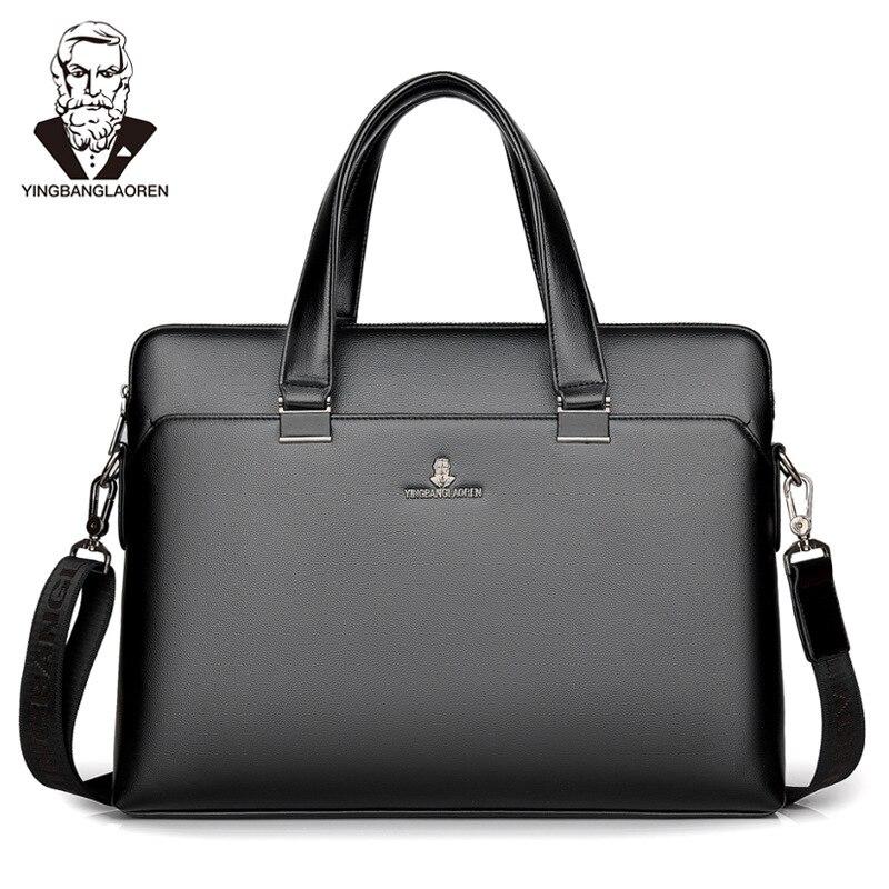Portfolio Luxury Brand Laptop Tote Bags Business Men Briefcases Men Handbag Totes Casual Male Bag Shoulder Bag Men Leather