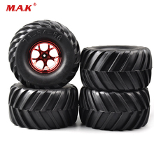 цена на RC 1:10 Scale Bigfoot Monster Tires and Wheel Rims fit HSP HPI RC Rally Racing Off Road Car Accessories
