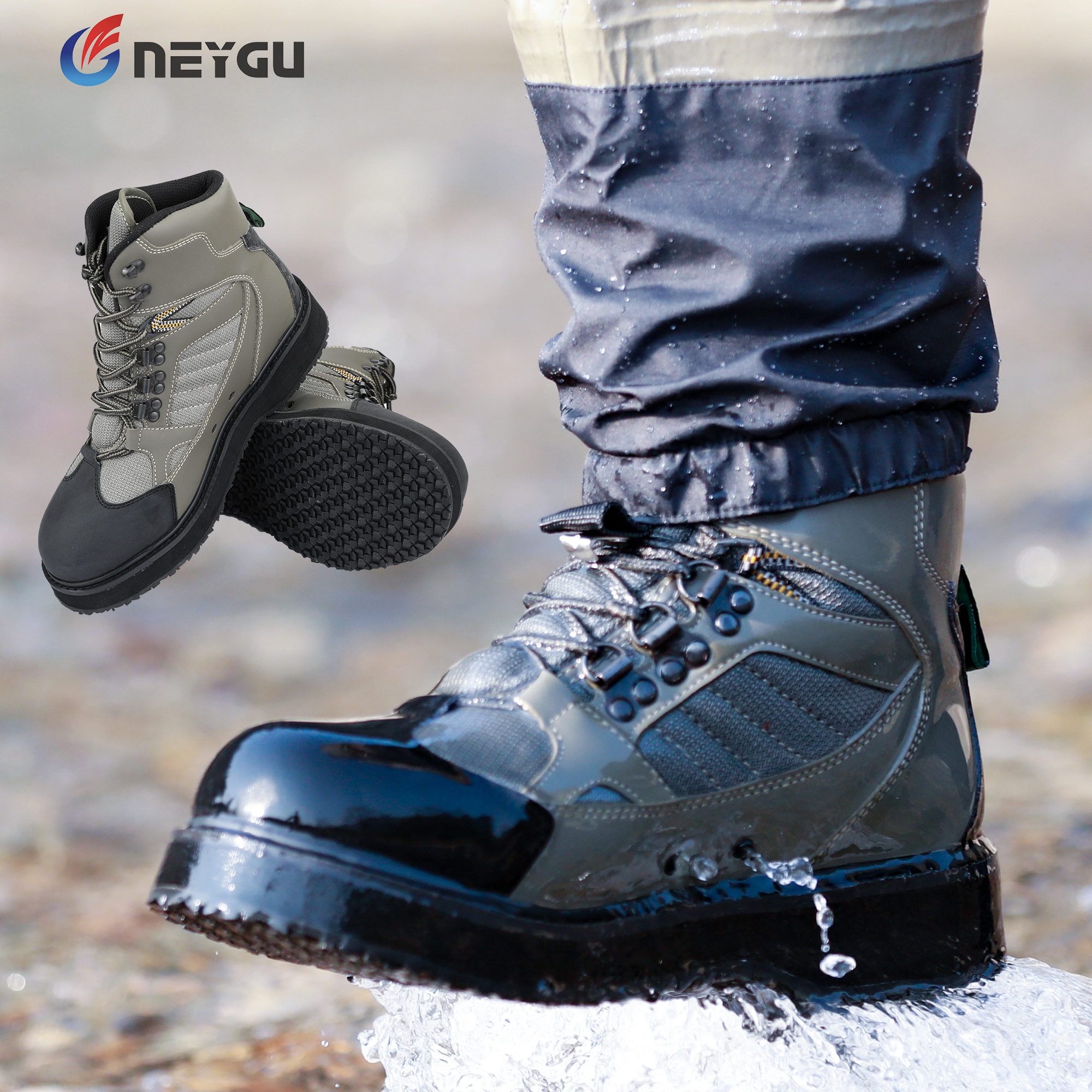 NEYGU outdoor sports shoes for wading dry quickly fly fishing wader boots for man and women