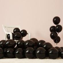 Black Latex Balloons 50pcs/lot 2.2g Inflatable Air Ballon Happy Birthday 18 party Wedding Decorations Baby shower Balon