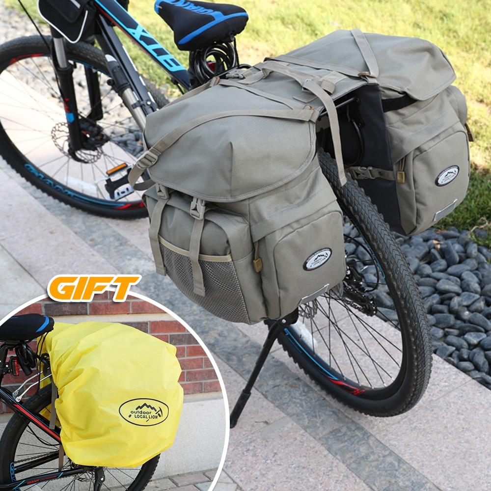 50L Bike Panniers Bag Waterproof Rear Seat Bicycle Bag Trunk Bags Saddle M6D6