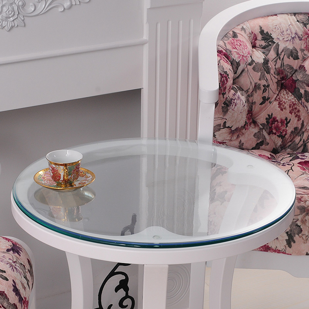 YO HOOM Kitchen PVC Waterproof Tablecloth Transparent Round Thickn1 0MM Table Cloth Table Cover Oil Soft Glass in Tablecloths from Home Garden