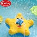 Brinquedos para o Banho do bebê Verão Squirter Água Pulverizador Respingo Starfish Girar Brinquedos Educativos Interativos Em Banheira de Casa De Banho Para Crianças dos miúdos