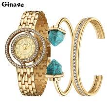 купить Women set Watch Luxury brand Rhinestone Crystal Diamond Watches Female Quartz Wristwatches Lady Dress Watch relogio feminino дешево