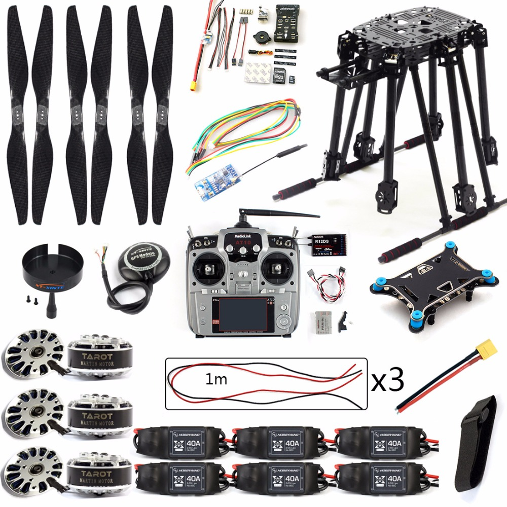 DIY Set PIX PIX4 Flight Control ZD850 Frame Kit M8N GPS Remote Control Radio Telemetry ESC Motor Props for RC 6-Axle Airplane image