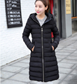 Women's Cotton-padded Jacket 2016 Newest Winter Thicken Slim Long down Coat  parka Hooded Female coat w-015