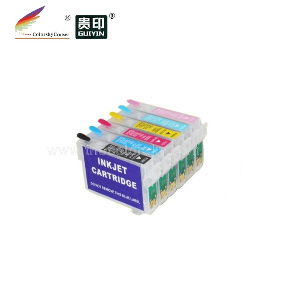 RCE-81N) многоразовый картридж для Epson 81n Artisan 725 730 835 837 stylus 1410 R290 k/c/m/y/lc/lm dhl