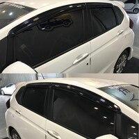 4pcs Exterior Mugen Style Sun Window Visor Protective Sun Window Shield For Honda FIT 2004 2007