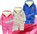 Free Shipping- baby / infant thick romper with fleece, baby winter romper, size NB to 10M(MOQ: 1pc)