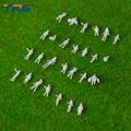 100pcs 1/200 Model making Mixed White Model Trains People Passengers Figures Scale for architecture
