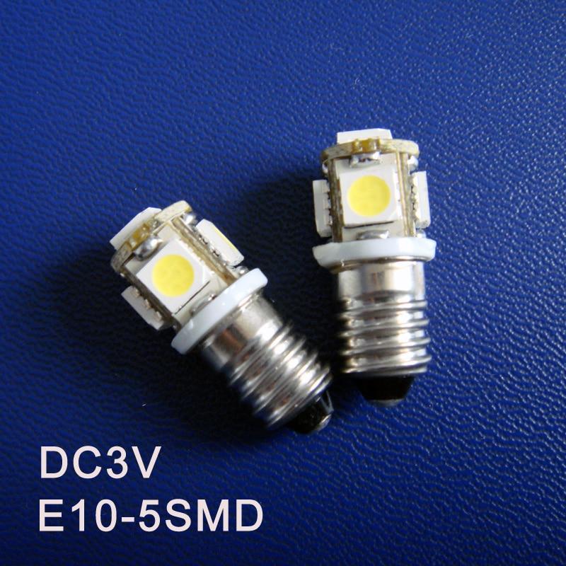 High quality DC3V E10 Led Light Bulbs,E10 Warning Signal,Pilot Lamps,Indicator Lights,Instrument Lamps free shipping 100pcs/lot