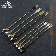 Stainless Steel Bar Spoons Hoffman Cocktail Drink Mixer Stirring Mixing Spoon Stirrer
