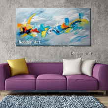 Graffiti art Handpainted Abstract Colorful Rainbow Oil Painting on Canvas Home Decor Wall Art Picture Beautiful canvas painting