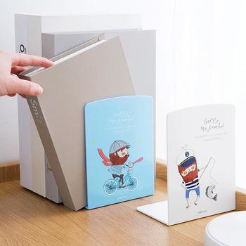 Deli proste regały regały stojak na książkę Bookend stojak na książki półka na książki półka na książki akcesoria biurowe akcesoria biurowe tanie i dobre opinie 0028w Z tworzywa sztucznego Bookends