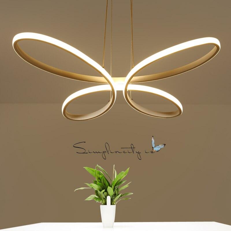 White/Black Minimalism Modern LED Pendant Lights for Dining Kitchen Room Living Room Hanging Suspension Pendant Lamp Fixtures