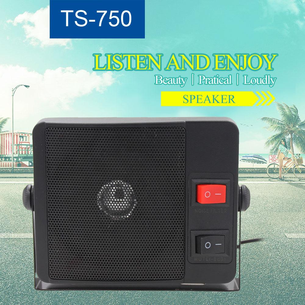 External Speaker TS-750 For Mobile Radio KT-780plus 3.5mm Ham Radio CB Hf Transceiver Car Radio Load Speaker