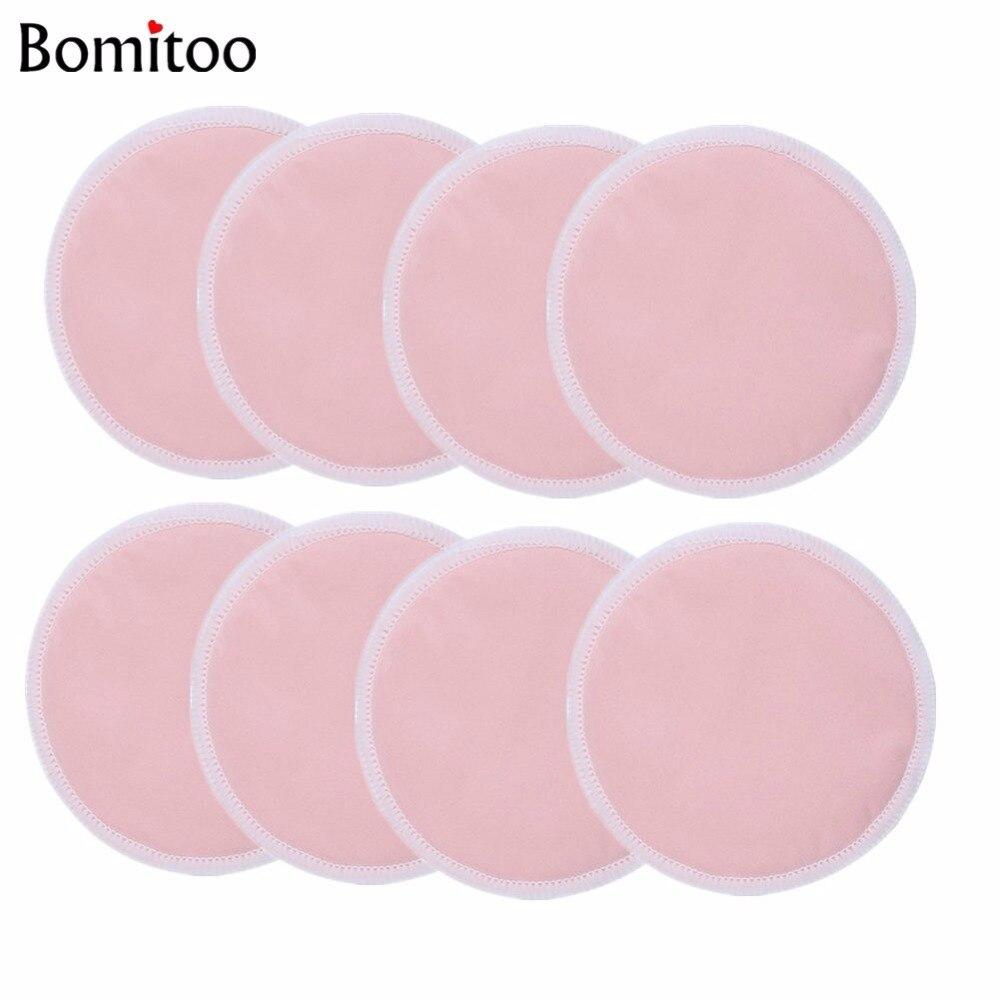 [Bomitoo] 8 Pcs Plain Maternity Nursing Pad Wholesale OEM BabyBreastfeeding Washable Breathable Super Absorb Soft Breast Pads