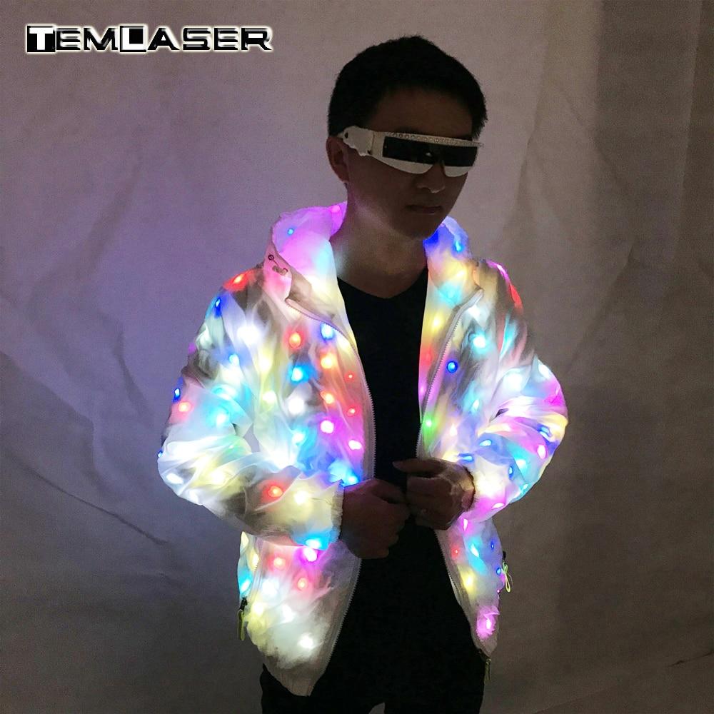 LED Luminoso Coppia Suit, Unisex LED Luminoso Giacca, natale, festa di Halloween, cospaly costume per festival di musica elettronica