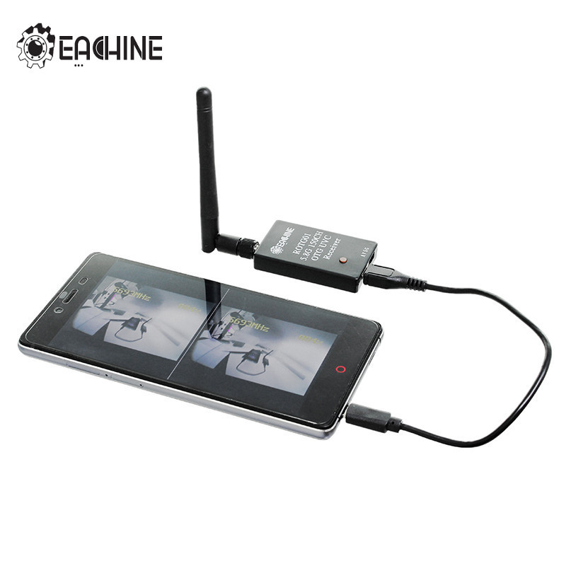 New Arrival Eachine ROTG01 UVC OTG 5.8G 150CH Full Channel FPV Receiver For Android Mobile Phone Smartphone