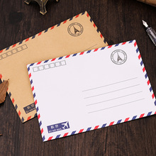 10PCS Retro Characteristics Aviation kraft paper Simple Envelop Vintage Style
