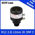 3 Megapixel Câmera de CCTV Varifocal Lente 2.8mm-12mm M12 Mount Para 720 P/1080 P/3MP Câmera IP ou AHD/CVI/TVI CCTV Camera Frete Grátis