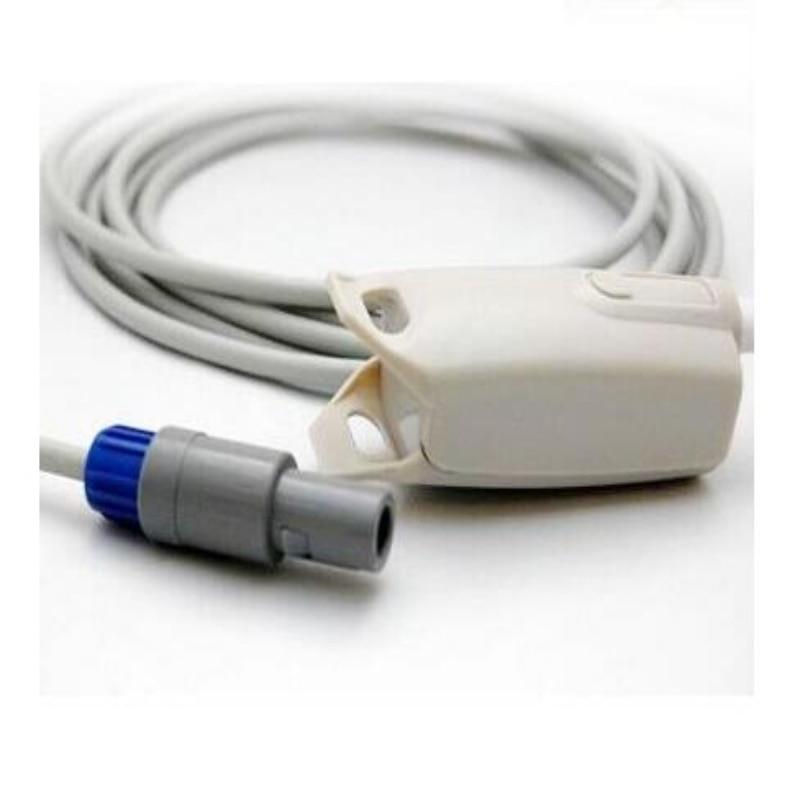 Compatibe for Mindray MEC1000/PM7000/8000/9000 Adult Fingerclip Spo2 Sensor,Pulse Oximeter Probe Sensor,Oxygen Sensor 3M TPU mindray neonate wrap spo2 sensor length 3 meter 5pin spo2 probe medical tpu cable