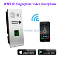 Wireless WIFI Fingerprint IP Video Door Phone via IOS/Android Mobiles & Tablets Control,Support Limitless IP Camera