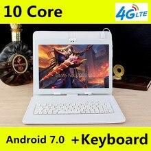 Caliente Nuevo Núcleo 128 GB ROM de Doble Cámara de Tabletas Android 7.0 Deca y Tablet PC Dual SIM Soporte 3G/4G LTE bluetooth phone call GPS