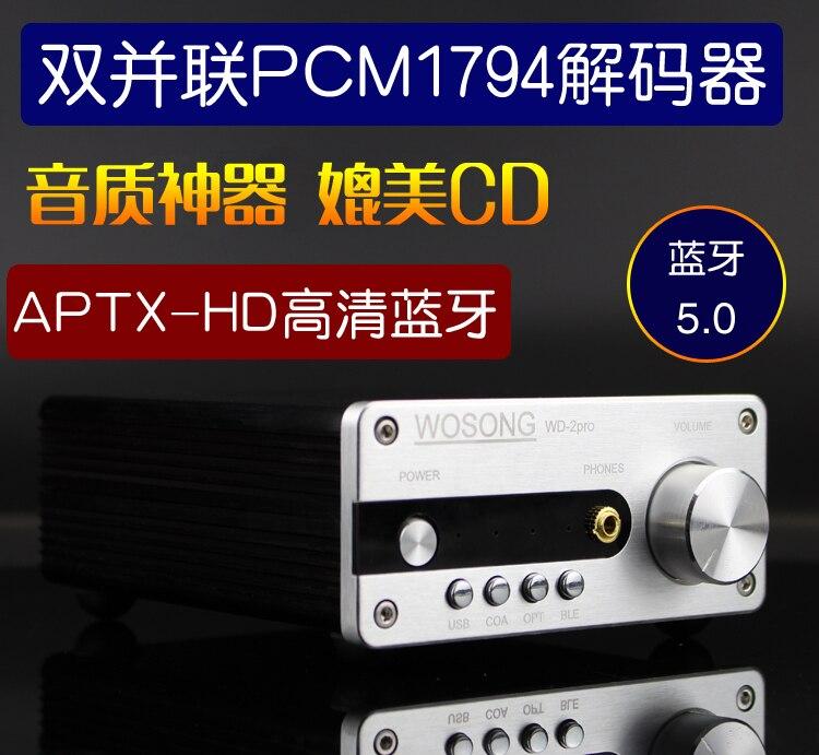 Kreativ Fertigen Wd-2p Hifidac Decoder Dual Parallel Pcm1794 Aptxhd Verlustfreie Bluetooth 5,0 Empfänger Tragbares Audio & Video